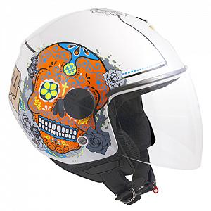 Casco jET 107S CANCUN WEISS METAL