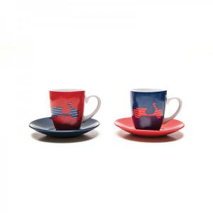 Set of 2 Vespa coffee cups - Vespa Servizio