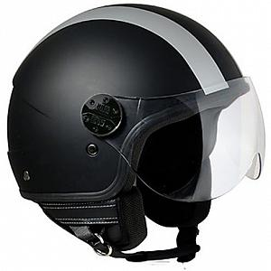 Helm Jet Airoh Compact blue shield