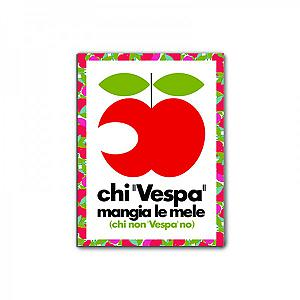 Vespa magnet - apple